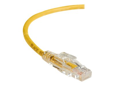Black Box GigaTrue 3 CAT6 550MHz Lockable Patch Cable, Yellow, 1ft, C6PC70-YL-01