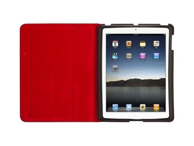Griffin Moxy Slim Folio Zebra for iPad 2 3 4, Black Dark Red