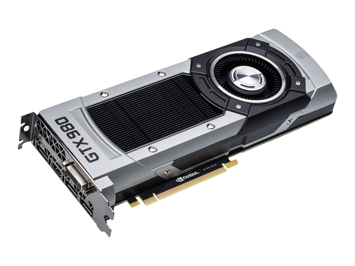 eVGA GeForce GTX 980 PCIe 3.0 x16 Superclocked Graphics Card, 4GB GDDR5, 04G-P4-2982-KR, 17827012, Graphics/Video Accelerators