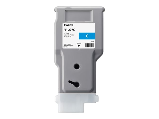 Canon Cyan PFI-207C 300ml Ink Tank, 8790B001