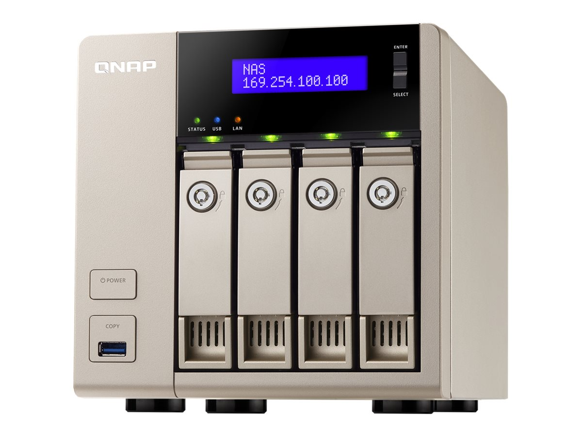 Qnap 4-Bay AMD X86-Based NAS w  8GB RAM, TVS-463-8G-US