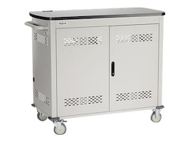 Black Box 27-Unit Laptop Charging Cart with Hinged, Locking Door, UCCDL27H, 16004647, Computer Carts