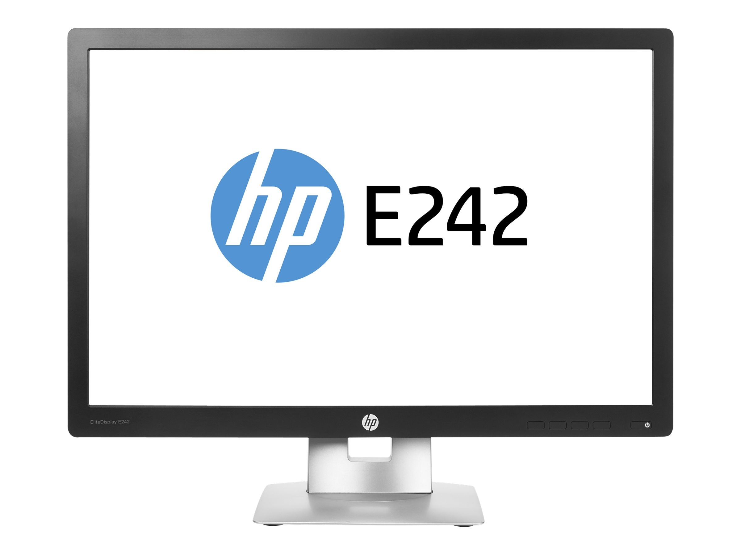 HP 24 E242 Full HD LED-LCD Monitor, Black, M1P02A8#ABA, 30737281, Monitors - LED-LCD