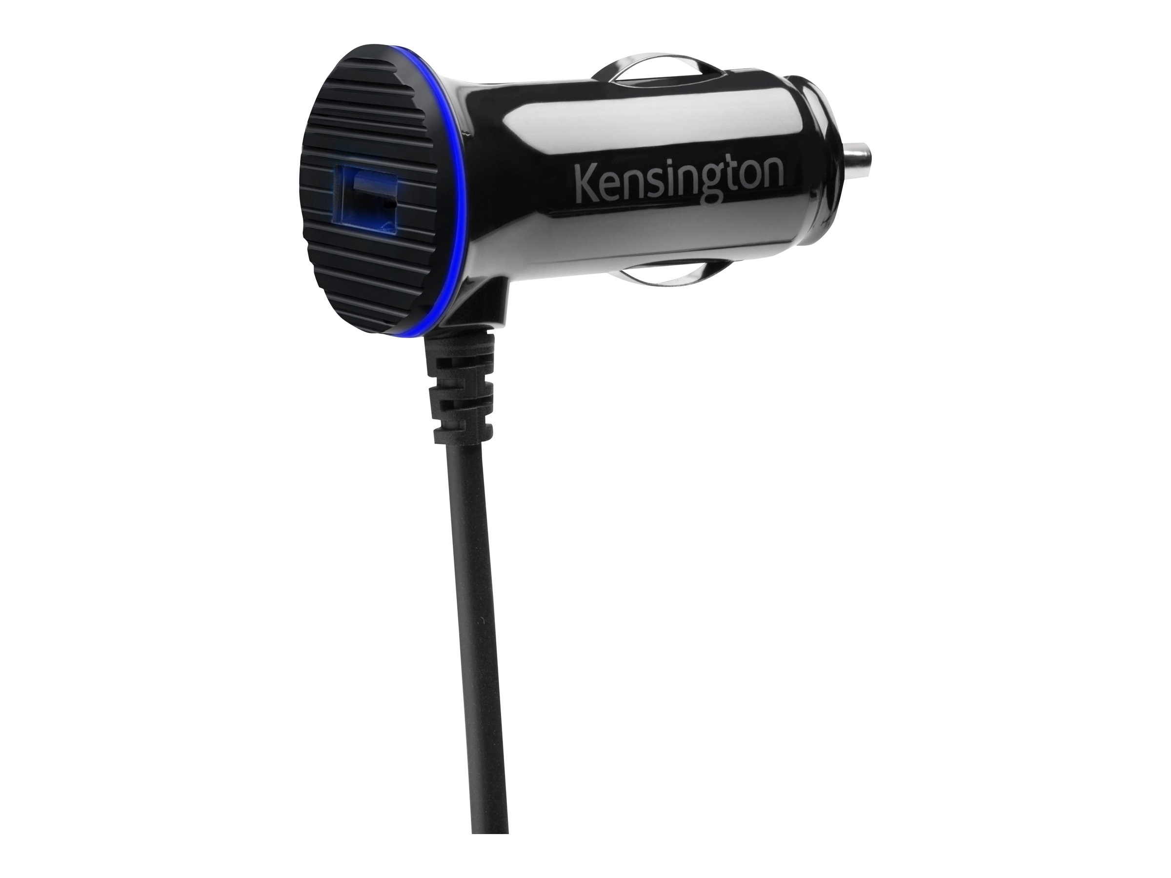 Kensington PowerBolt 3.4 Dual Port Fast Charge Car Charger, Lightning Connector