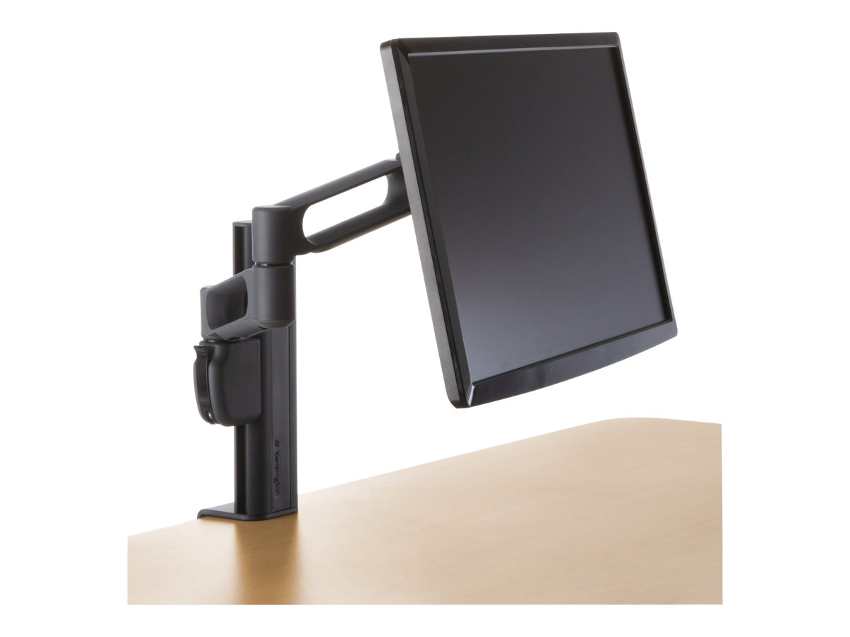 Kensington Column Mount Extended Monitor Arm with SmartFit System, Black, K60904US, 9000584, Stands & Mounts - AV