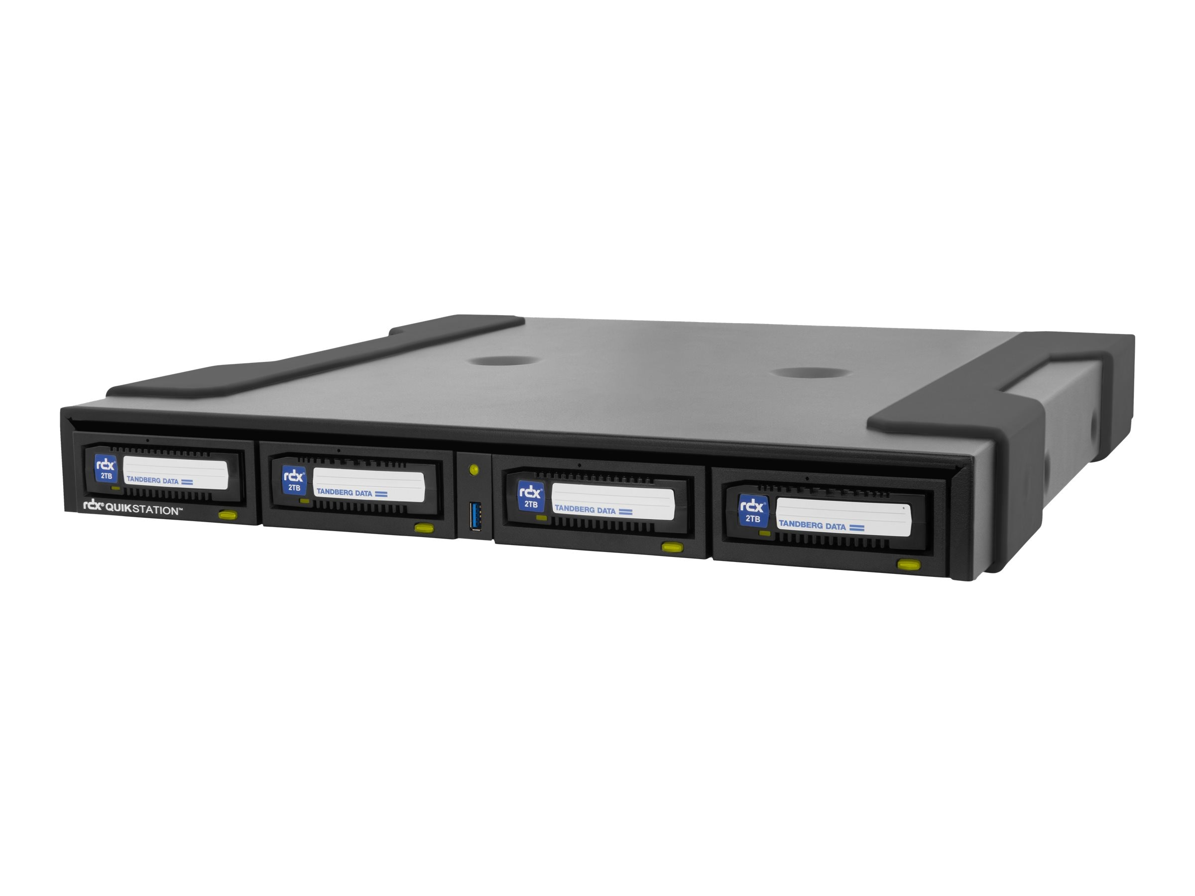 Tandberg Data RDX QuikStation 4 iSCSI-Attached Desktop 4-Drive Array, 8922-RDX, 21814020, Removable Drives