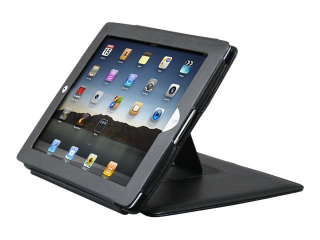 Premiertek Leather Flip Case with Stand for iPad 2, LC-IPAD2-STD