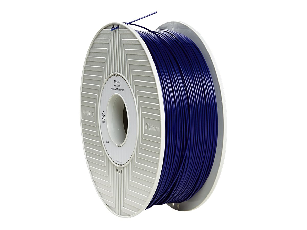 Verbatim Blue 1.75mm 1kg PLA 3D Filament, 55252