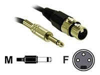 C2G Pro-Audio Cable, XLR (F) to 1 4in (M), 12ft, 40042, 7768531, Cables