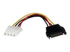 StarTech.com 15pin SATA to LP4 Molex Power Cable, LP4SATAFM6IN, 12361436, Power Cords