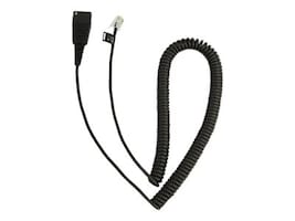 Jabra Quick Disconnect to RJ-9 Coiled Cable for Plantronics M12; Cisco 7940, 7960, 8800-01-37, 29154046, Cables
