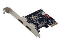 Global Marketing Partners 2-port e-SATA (External) PCI-Express Controller Card, SD-SA2PEX-2E, 15759749, Controller Cards & I/O Boards