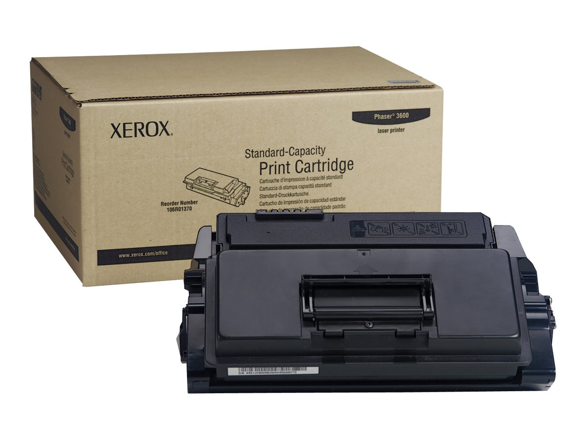Xerox Black Standard Capacity Toner Cartridge for Phaser 3600 Series, 106R01370