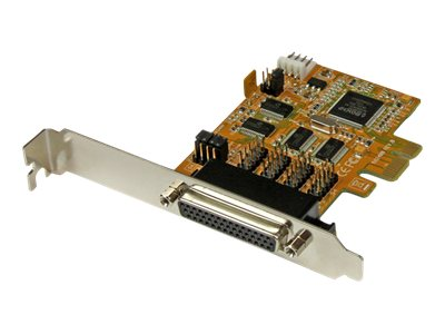StarTech.com 4-Port PCI Express (PCIe) RS232 Serial Card w  Power Output and ESD Protection