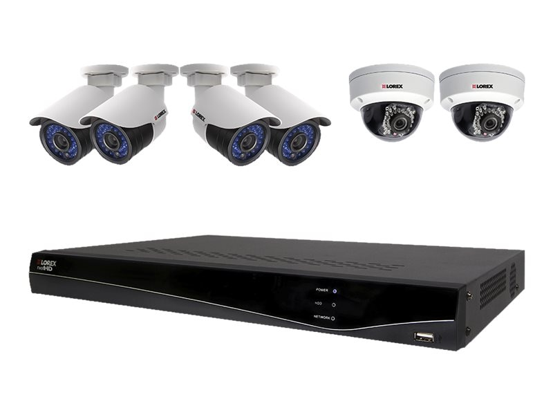 Lorex 8-Channel NVR with 2TB HDD and 6 Wired Cameras, LNR382C6B, 18319677, Video Capture Hardware