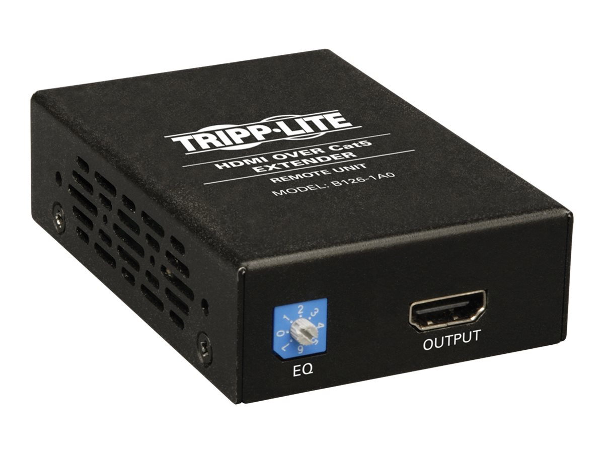Tripp Lite HDMI over Cat5 Cat6 Extender, Receiver for Video and Audio, 1080p at 60Hz, B126-1A0, 12151666, Video Extenders & Splitters