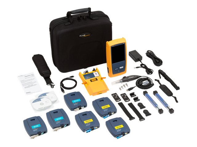 Fluke Optifiber Pro Quad OTDR with Inspection Kit, OFP-100-QI, 13775366, Network Test Equipment
