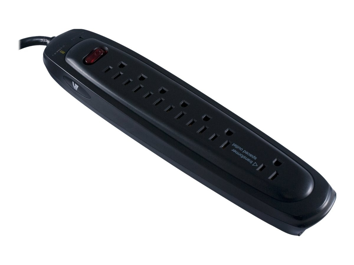 V7 Surge Protector (7) Outlet 1200 Joules Tel+Coax 6ft Cord Black, SA0706B-8N6, 15199008, Surge Suppressors