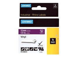 DYMO 1 2 Rhino Purple Vinyl Labels, 1805415, 13202306, Paper, Labels & Other Print Media