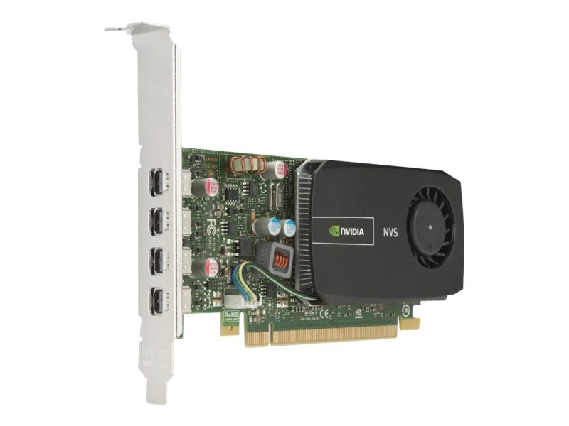 HP NVIDIA NVS 510 PCIe 2.0 x16 Graphics Card, 2GB DDR3