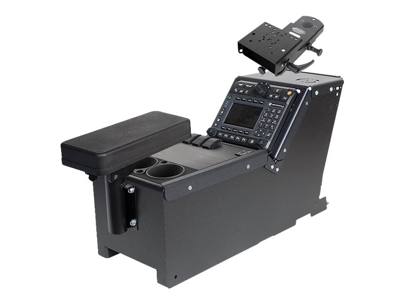 Gamber-Johnson Ford Police Interceptor Utility (2012+) Console Box with Cup Holder, Armrest, Mongoose Attachment
