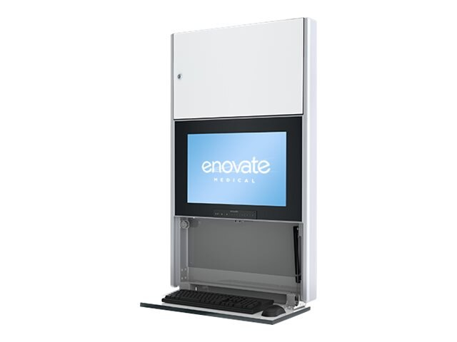 Enovate 550 Wall Station with eSensor System & eLift, Ontario White, E550L4-N4L-01OW-0, 15732052, Computer Carts - Medical