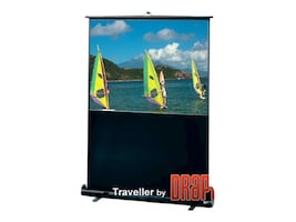 Draper Traveller Portable Projection Screen, Matte White, 16:9, 55in, 230117, 8816160, Projector Screens