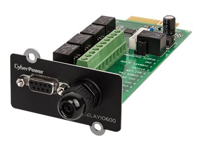 CyberPower UPS Online Relay I O Management Card (5) Output (1) Input Relay Contact Closures, RELAYIO600