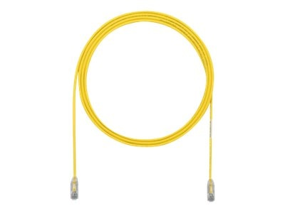 Panduit Cat6e 28AWG UTP CM LSZH Copper Patch Cable, Yellow, 22ft