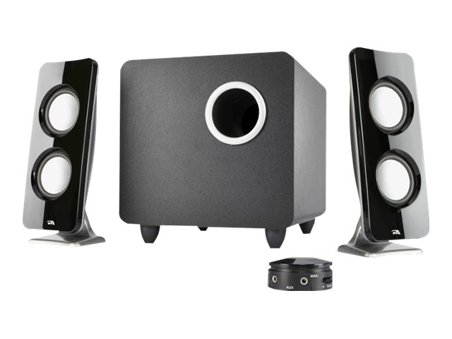 Cyber Acoustics Curve Series Control Pod Subwoofer 2.1 Powered Speaker System, CA-3610, 29489209, Speakers - Audio