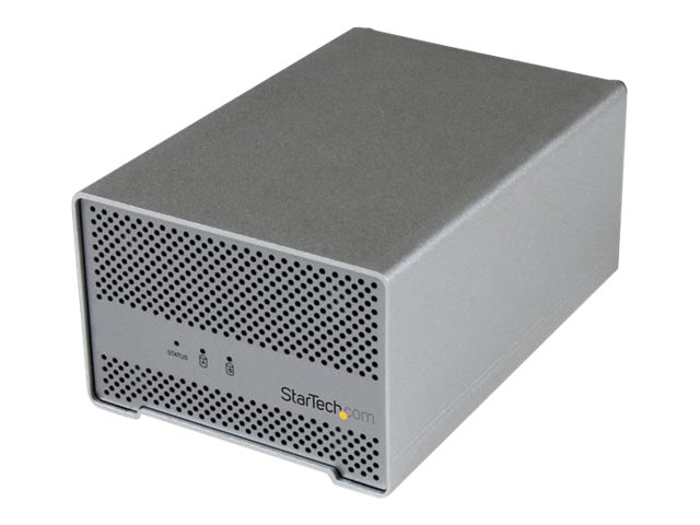 StarTech.com Thunderbolt Dual Bay 2.5 Hard Drive Enclosure w  Thunderbolt Cable & Fan