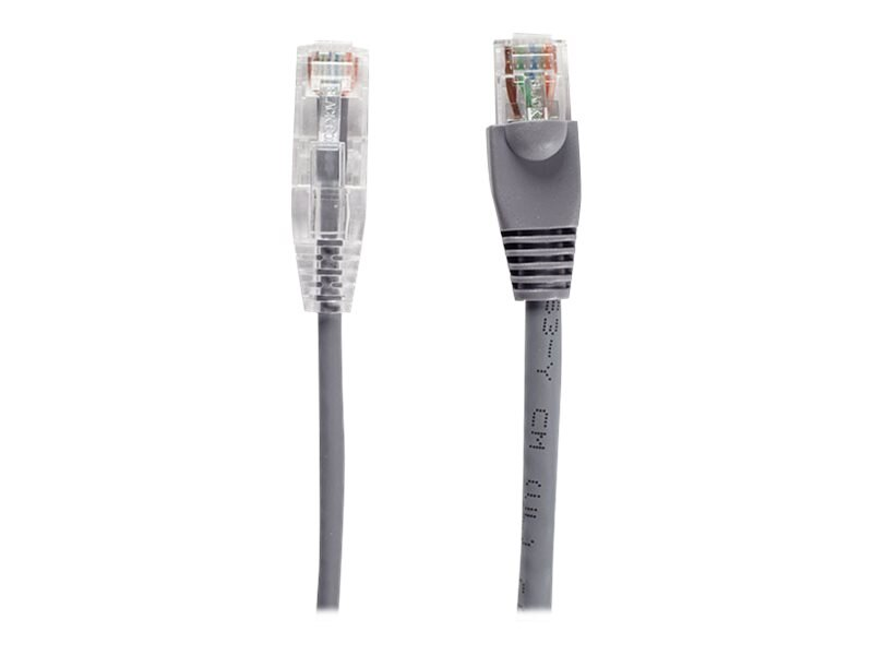 Black Box Slim-Net CAT6 28AWG 250MHz Patch Cable, Gray, 7ft