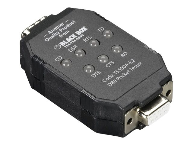 Black Box DB9 PockeTester, TS500A-R2, 5975211, Network Test Equipment