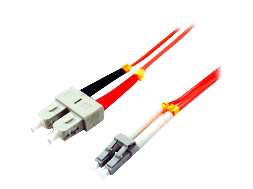 Comprehensive LC to SC 62.5 125 Multimode Duplex Cable, Orange, 1m