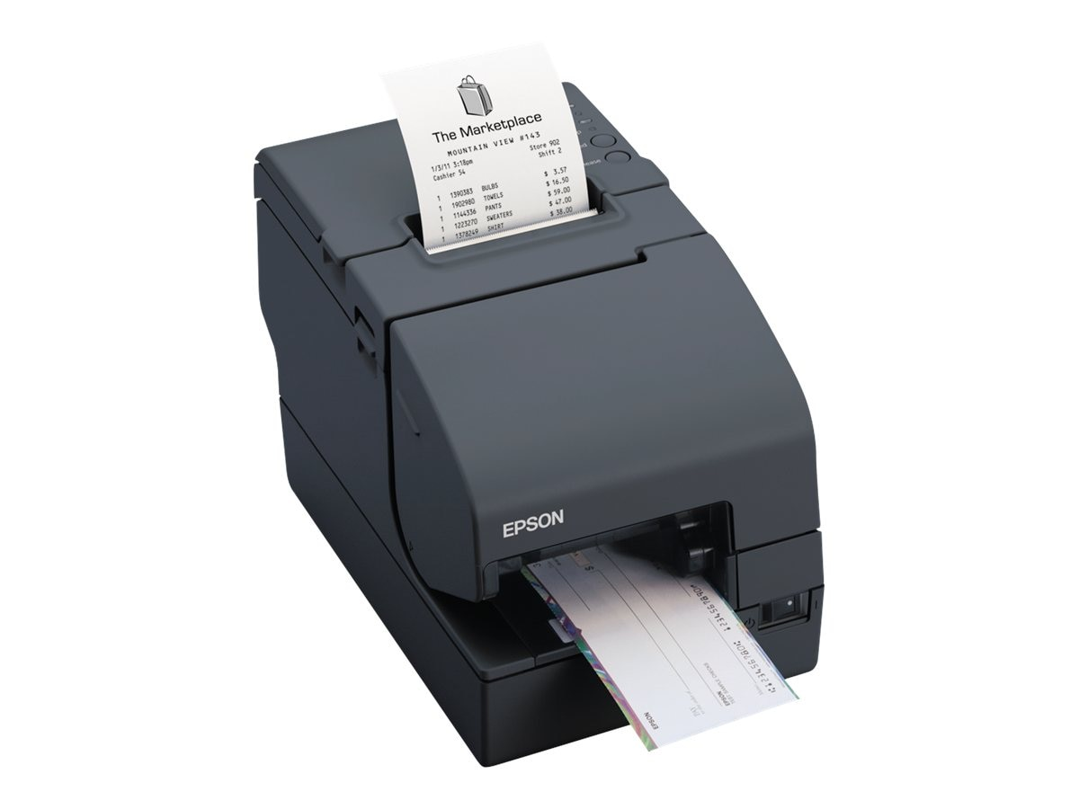 Epson TM-H2000 S01 MICR USB Serial Dual Function Printer w  Edge, C31CB26902, 16007979, Printers - POS Receipt