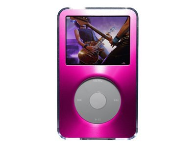 Belkin Acrylic and Brushed Metal Case for iPod video - Pink, F8Z115-PNK, 7383905, Protective & Dust Covers
