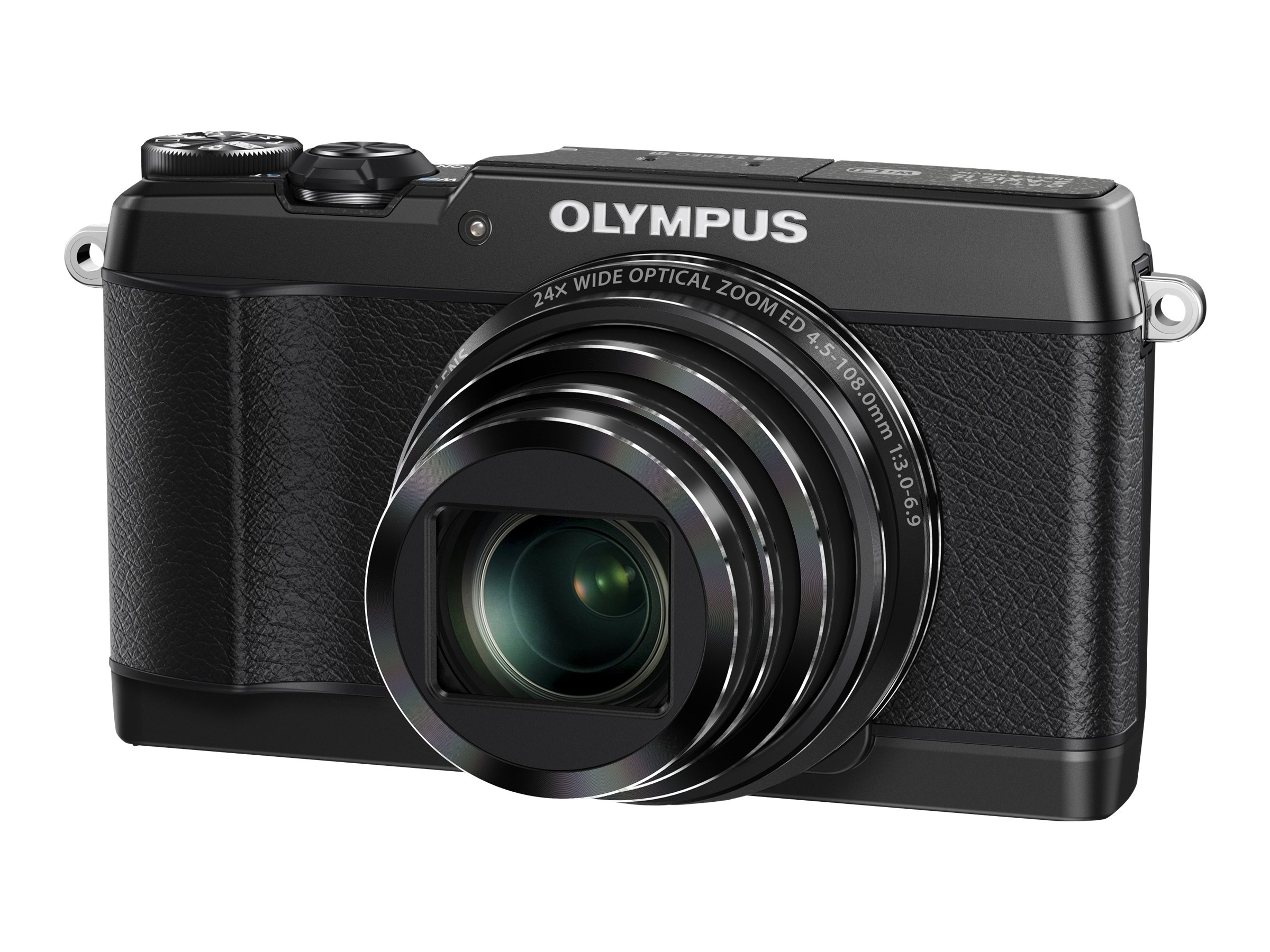 Olympus Stylus SH-1 Digital Camera, 16MP, Black, V107080BU000, 17051656, Cameras - Digital - Point & Shoot