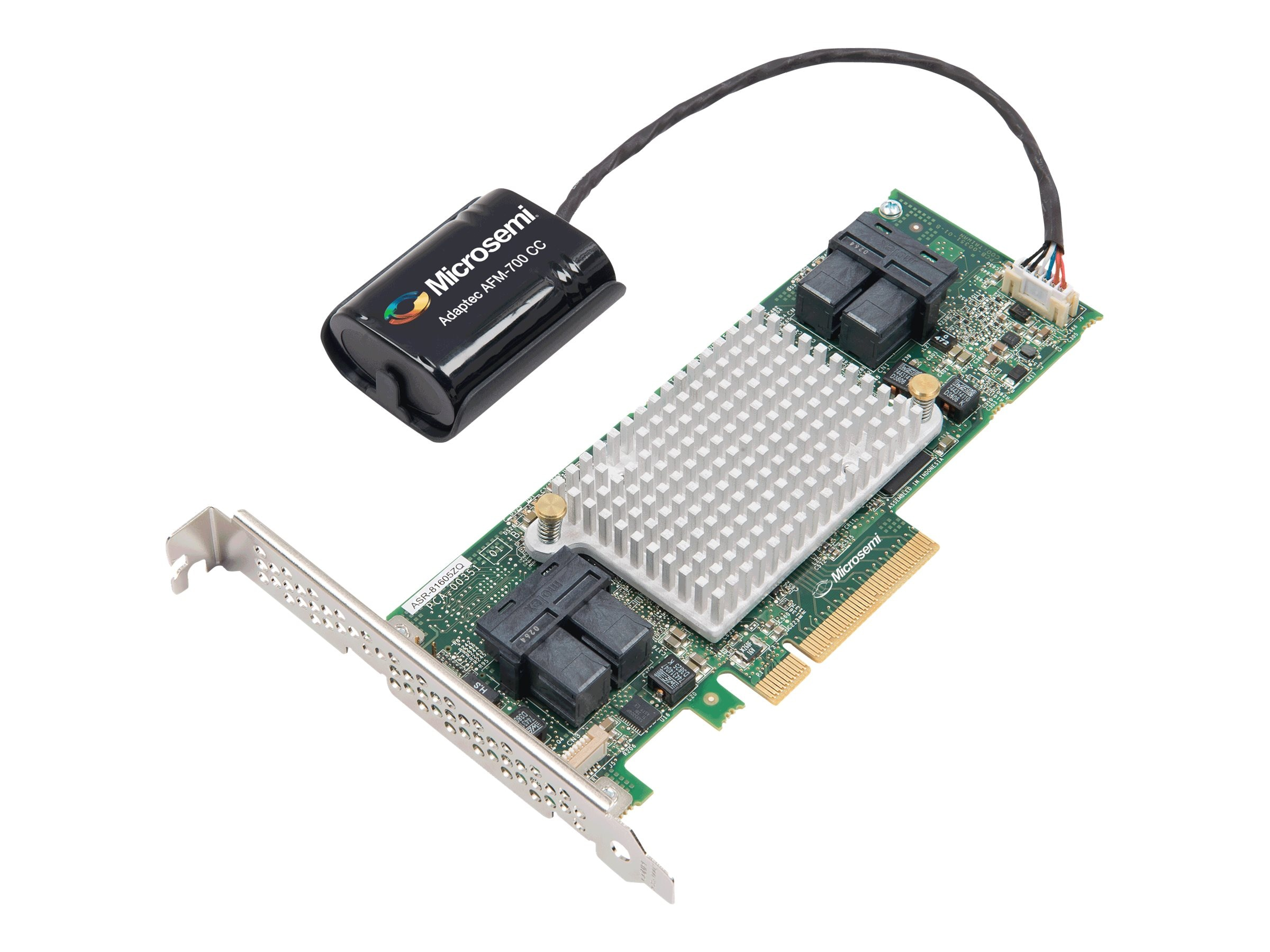 Adaptec 16-port Low-Profile Controller Card with maxCache Plus, 2281600-R