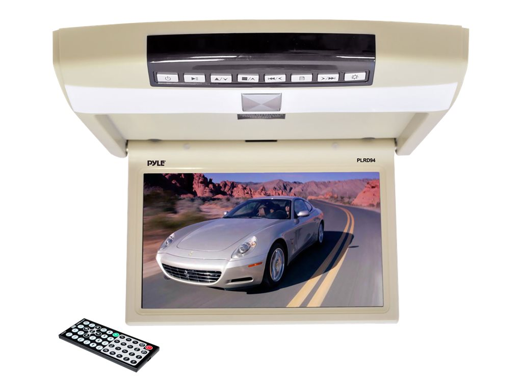 Pyle 9.4 Flip Roof Mount Monitor and DVD Player, PLRD94, 18518772, Monitors - LCD