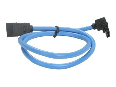 Rosewill Serial ATA III Blue Round Cable with Locking Latch Support, 19.7, RCA-RU-19-SA3-90-BL