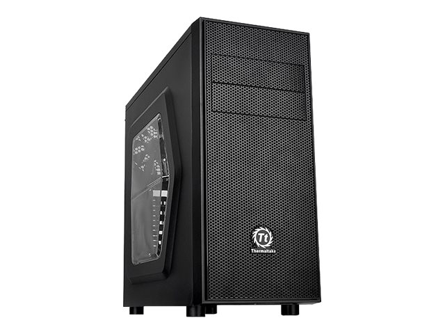 Thermaltake Chassis, Versa H24 Mid Tower with Window ATX 3x3.5 Bays 2x5.25 Bays 7xSlots, Black