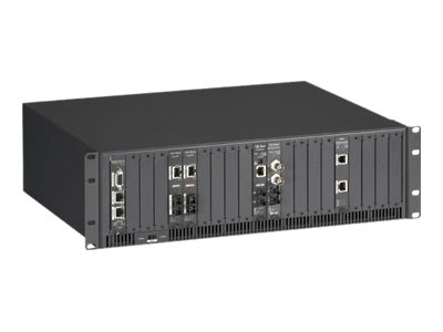 Black Box High-Density Media Converter System II Chassis, 20-Slot Rackmount, Dual AC Power