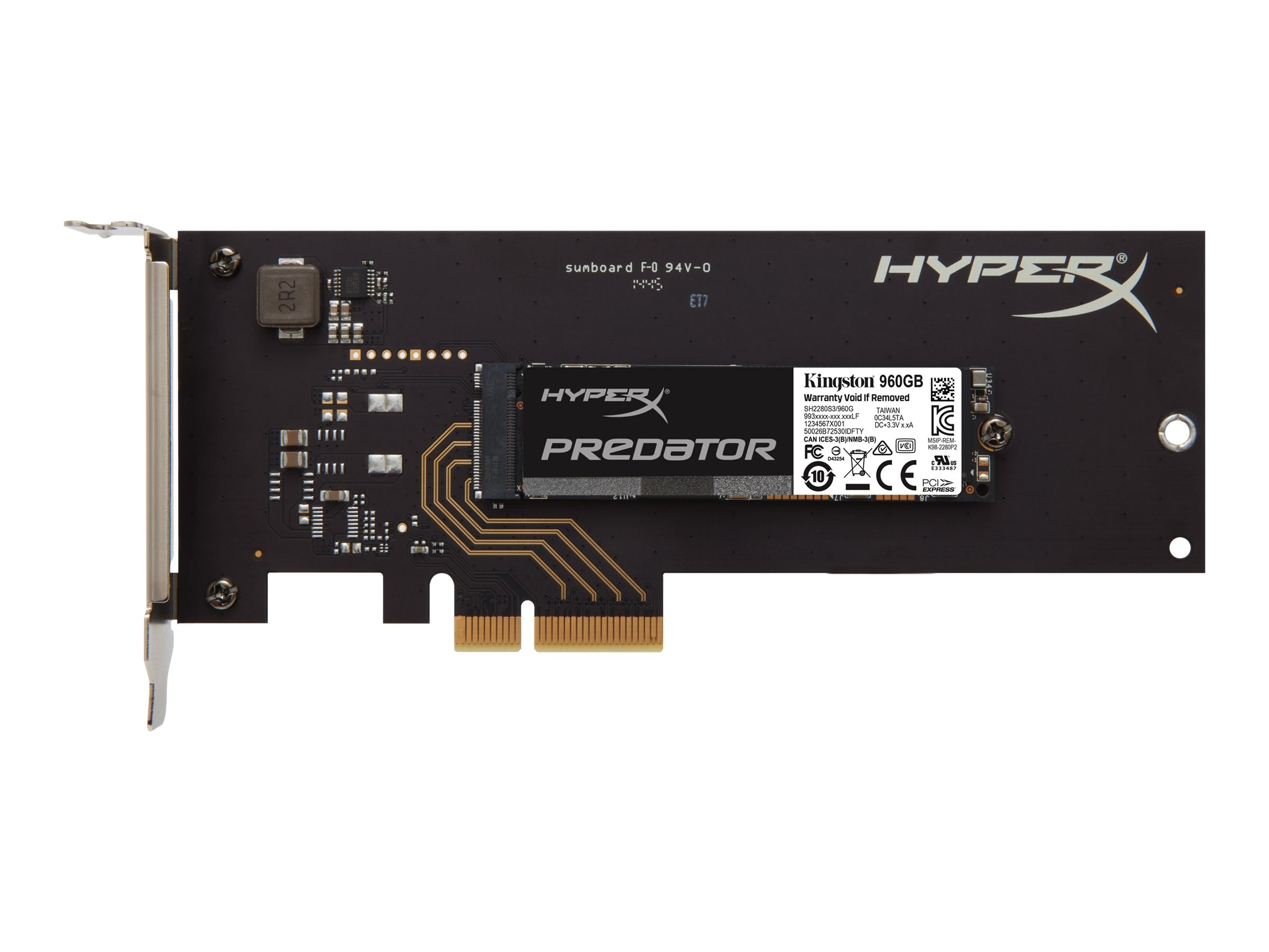 Kingston 960GB HyperX Predator PCIe Gen2 X4 HHHL Internal Solid State Drive