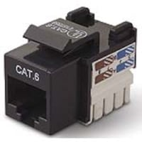 Belkin CAT6 Channel Keystone Jack 568A 568B, black, R6D026-AB6, 5192478, Premise Wiring Equipment