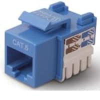 Belkin CAT6 Channel Keystone Jack 568A 568B, Blue, R6D026-AB6-BLU, 5192486, Premise Wiring Equipment