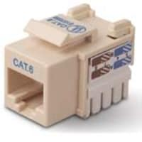 Belkin CAT6 Channel Keystone Jack 568A 568B, ivory, R6D026-AB6-IVO, 5192507, Premise Wiring Equipment