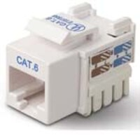 Belkin CAT6 Channel Keystone Jack 568A 568B, white, R6D026-AB6-WHT, 5192523, Premise Wiring Equipment