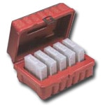 Perm-A-Store Turtle Case, DLT,  5 Tape Capacity, Red
