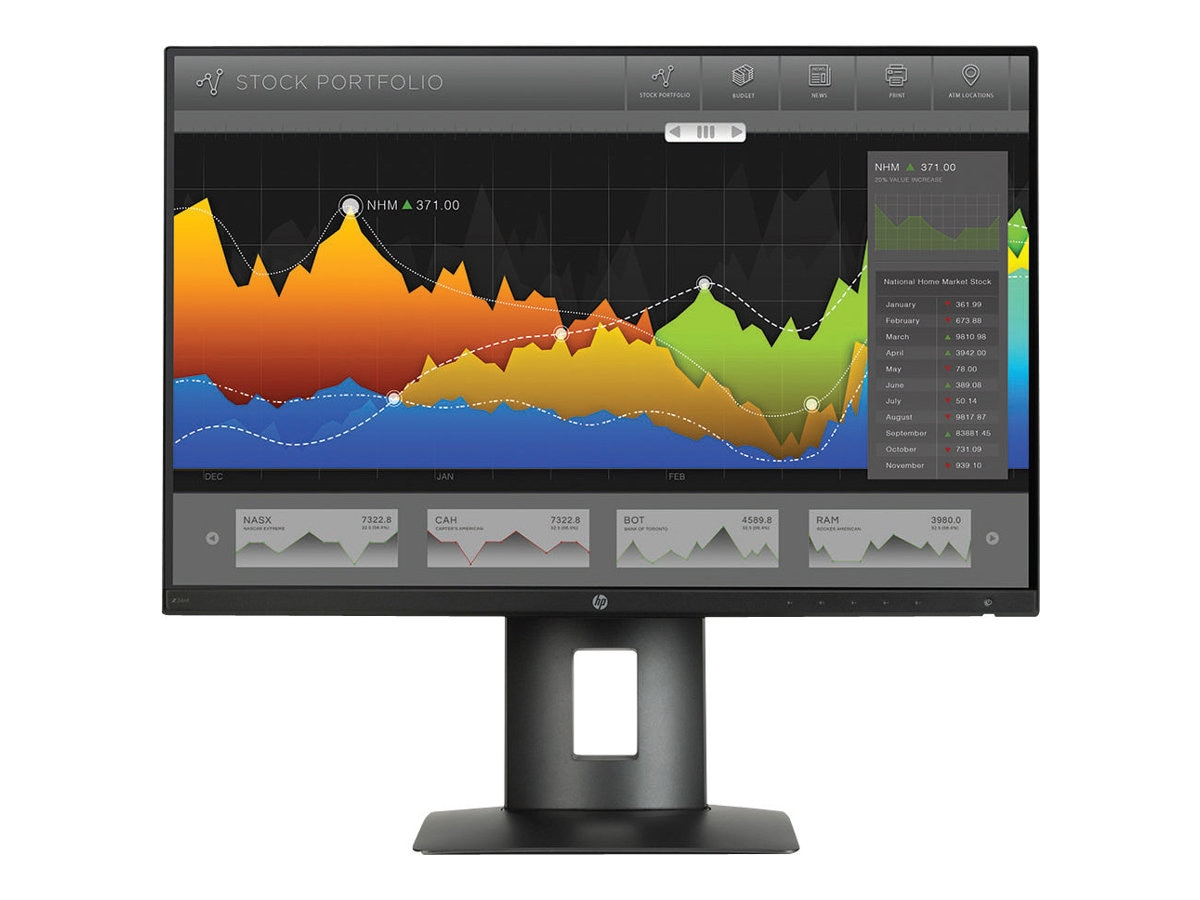HP Smart Buy 23.8 Z24NF Full HD LED-LCD Monitor, Black
