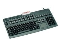 Cherry PS 2 Keyboard with 3-Track MSR, Touchpad, 2 Barcode Ports, US 120-Key Layout - Black, G80-8113LRAUS-2, 7453660, Keyboards & Keypads